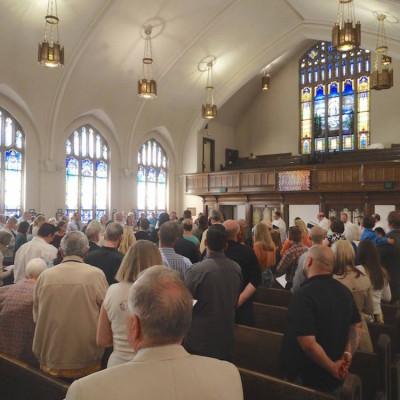 Easter service begins